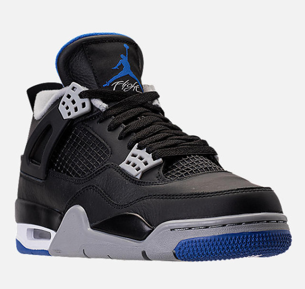Exclusive Nike Men's Air Jordan Retro 4 Basketball Shoes.  Black/Soar/Matte Silv