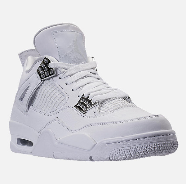 RARE Exclusive Nike Mens Air Jordan Retro 4- White/Metallic Silver/Pure Platinum
