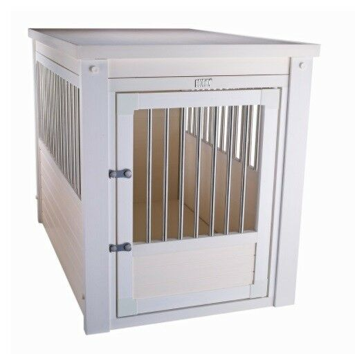 X Large Pet Crate Cage End Table Dog House White Home Indoor Gate Living Room