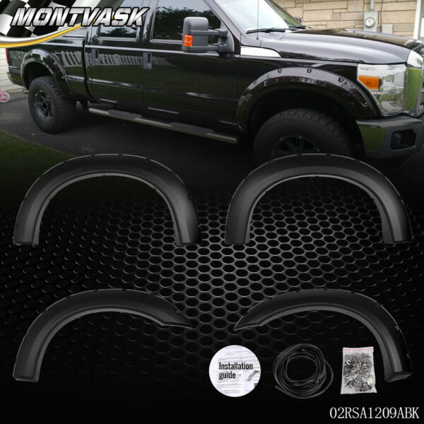 For 1999-2007 Ford F250 F350 Super Duty Bolt-On Rivet Pocket Style Fender Flares