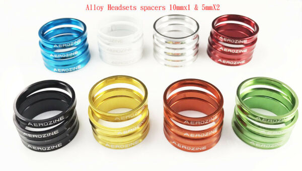 Aerozine 1 1 8quot; CNC Spacer Bike 6061 T6 Headset Spacer 28.6mm 5mm*2 10mm*1 $9.50
