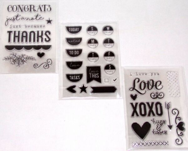 Weekly Planner Clear Stamp Sets Cardmaking Love Sets You Pick by Ms Sparkle amp; Co $7.99