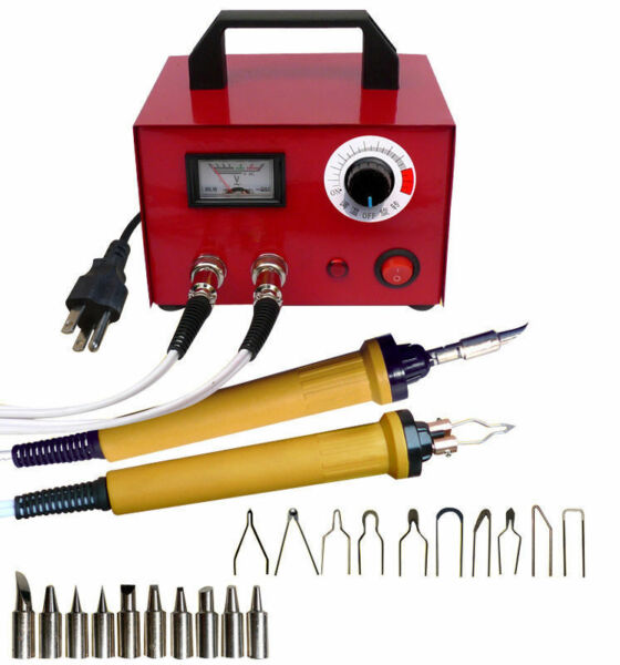 110V 100W Multifunction Wood Burning Pyrography Machine Dual Pen Craft Tools