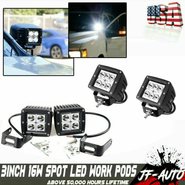 2x 4INCH 36W CREE LED WORK LIGHT BAR SPOT OFFROAD ATV FOG TRUCK LAMP 4WD 12V 6