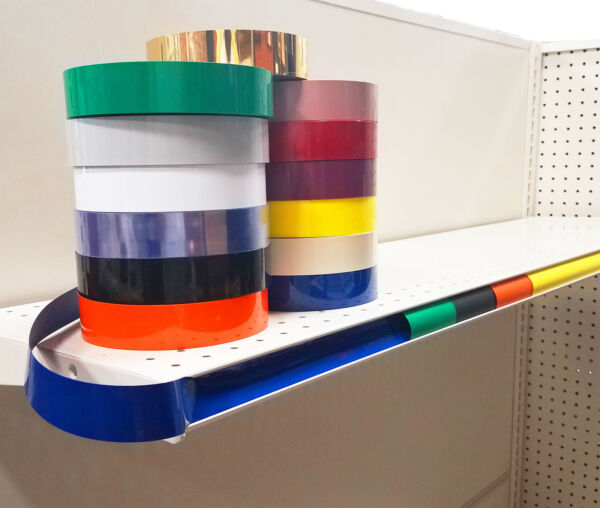 Decorative Gondola Shelving Vinyl Inserts Many Colors Available 130 ft x 1.25 in