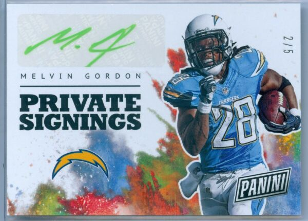 MELVIN GORDON 2017 PANINI NATIONAL CONVENTION PRIVATE SIGNINGS AUTOGRAPH SP5