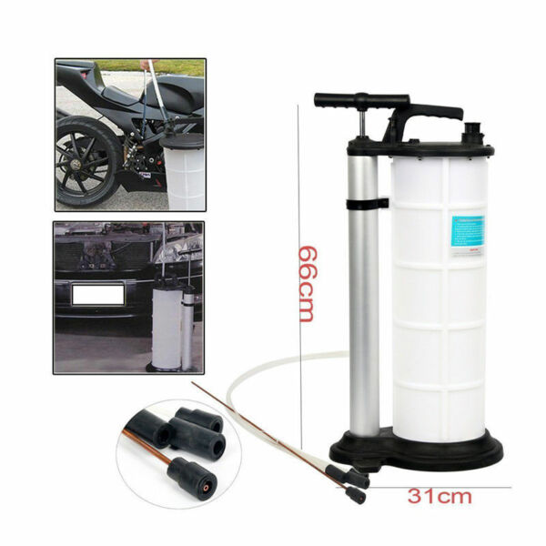 9L Fluid Evacuator Manual Oil Changer Hand Operated  Oil Change Fluid Extractor