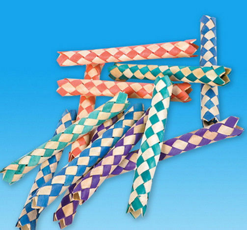 12 Chinese Finger Traps Cuffs Bamboo Birthday Party Favors Trap Bird Toy New