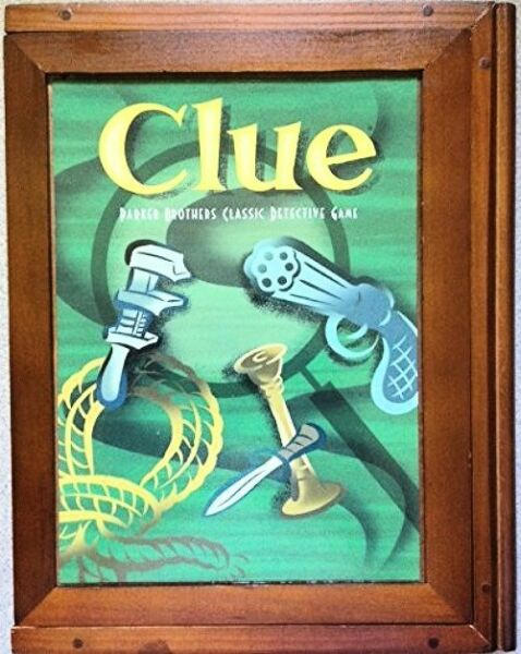 Hasbro Parker Brothers Vintage Game Collection Exclusive Wooden Book Box Clue