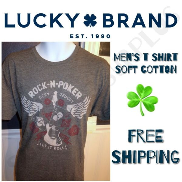 LUCKY BRAND Mens' Graphic Vintage Tee T Shirt - ALL SIZES - SALE