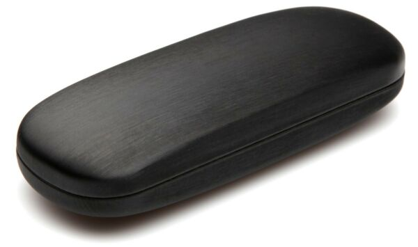 NEW Clam Shell Hard Eyeglasses Glasses Case Black w Microfiber Cleaning Cloth