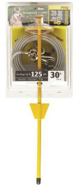 Tie Out Dog Xlarge 30ft Pdq PartNo Q5730DOM99 by BOSS PET PRODUCTS Single Uni $28.01