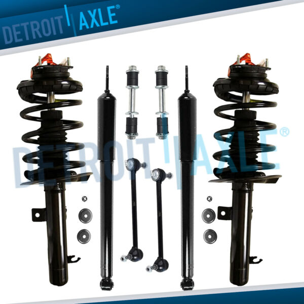 Front Struts Rear Shock Absorbers Sway Bars for 2006 2009 Ford Focus 2.0L $203.97