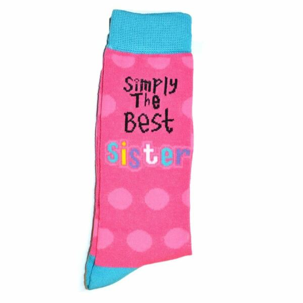 Simply The Best Sister Socks for Gifts Novelty Christmas Birthday Gift