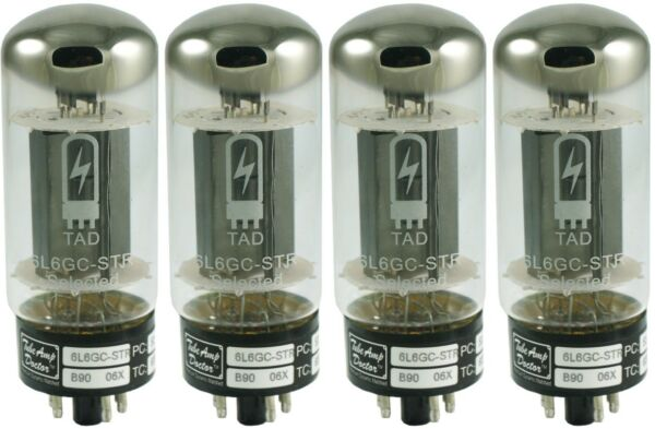 NEW Tube Amp Doctor TAD 6L6GC-STR 6L6 Matched Quad Tube