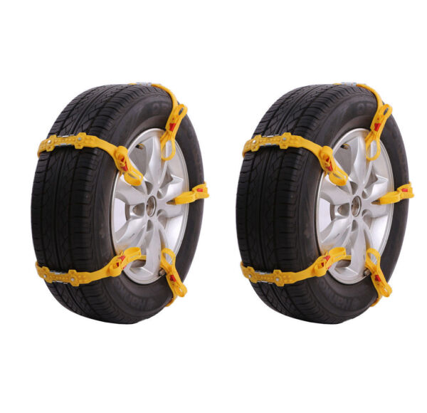 10PCS Universal Anti-skid Tire Chains for Car SUV Snow Winter Emergency Driving