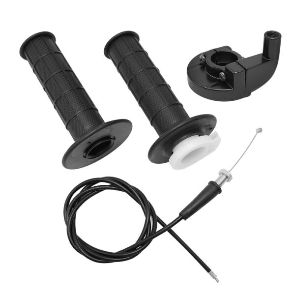 For Mini Baja Mb165 Mb200 Doodlebug Bike Throttle Handle Grips Grip Cable Kit