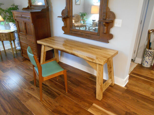 American Hand Made Live Oak Desk Modern Designer Unique Heirloom