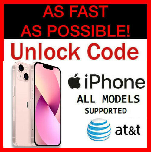 Unlock Code Service for AT&T iPhone 8 8+ Plus iPhone X iPhone 7 7 Plus 6 6S 5 5S