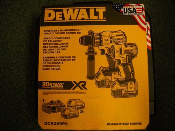 Dewalt DCK299P2 20V Cordless Brushless Combo Kit  2-Tool 5.0Ah DCD996 DCF887 NEW