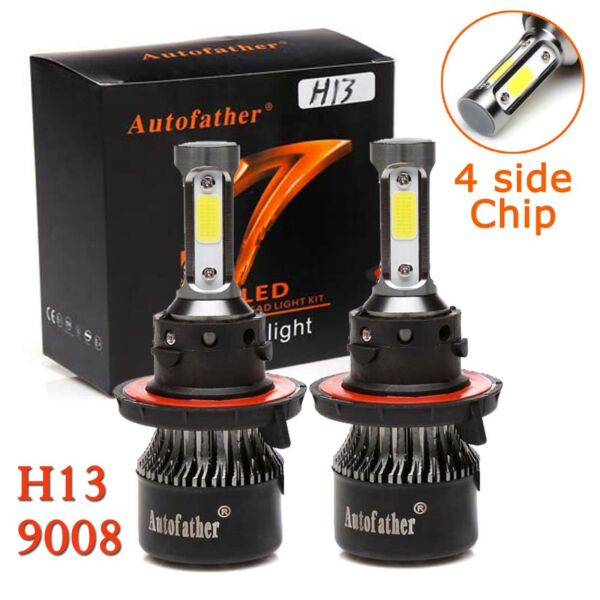 LED Cree 9008 H13 Headlight Bulbs High Low Beam For Ford F250 F350 Super Duty