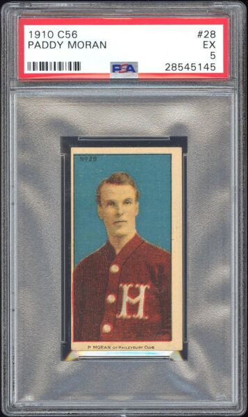1910 C56 Imperial Tobacco #28 Paddy Moran PSA 5 Hall of Fame Rookie Card