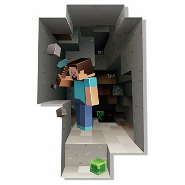 Minecraft Wall Decal Kids Room Steve Game Removable Sticker Decor Decoration