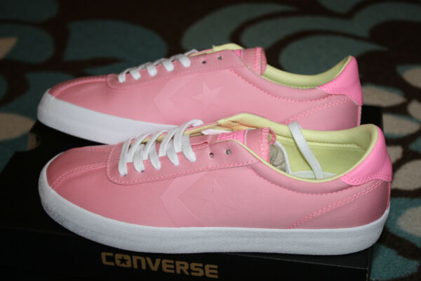 New Womens CONVERSE BREAKPOINT OX casual athletic shoes 7 pink NIB sneakers