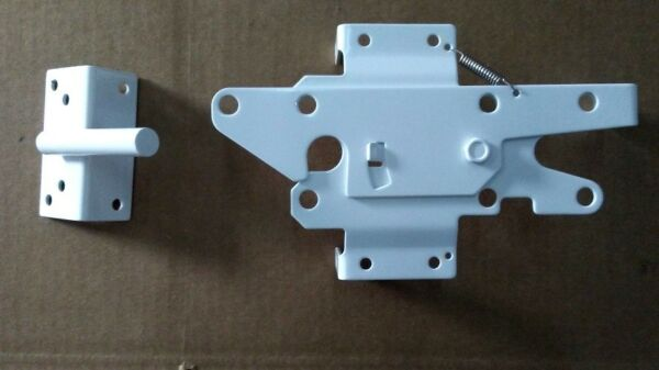Standard Stainless Steel Gate Latch Lockable Both Sides for PVC Vinyl Gate