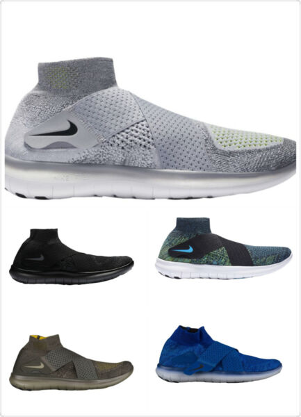 Nike Free RN Motion FK 2017 Flyknit Mens Running Shoes Multi color Multi size