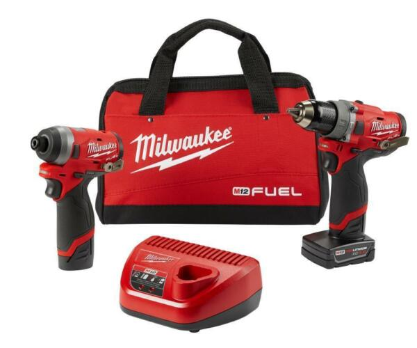 Milwaukee 2596-22 M12 FUEL 2-Tool Drill Driver and Impact Driver Combo Kit