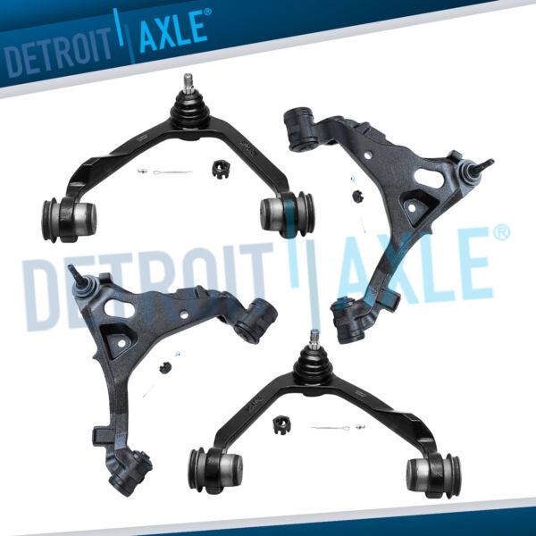 4pc Front Upper & Lower Control Arm Ball Joint Ford F-150 Lincoln Navigator 4x4