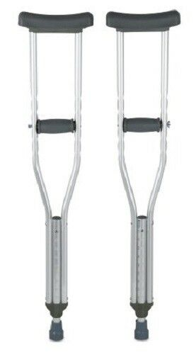 Underarm Youth Crutch Youth Crutches Aluminum Adjustable Height 4'6