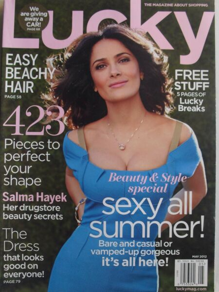 SALMA HAYEK May 2012 LUCKY Magazine