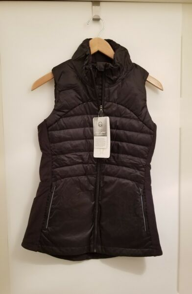 Lululemon Down For A Run Vest II NWT Size 2 4 Black Slim fit Goose Down 800 fill $109.95