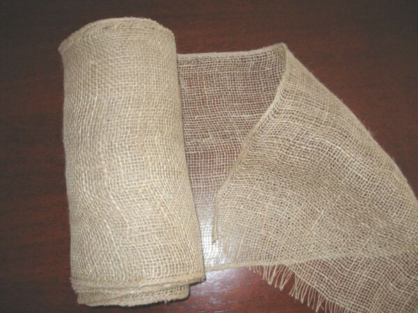 burlap runner 11quot; wide 16#x27; long light brown finished side edges groom#x27;s table