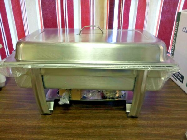 FOOD WARMER 8 QUART FULL SIZE SERVING RECTANGULAR OBLONG BUFFET CHAFING DURAWARE