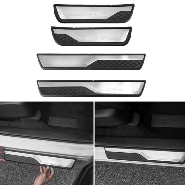 FIT FOR HONDA CR-V CRV 2017 2018 Stainless Steel Door Sill Scuff Plate NEW