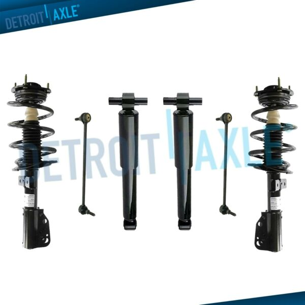 Chevy Traverse GMC Acadia Struts Assembly Shocks Sway Bars for Front amp; Rear