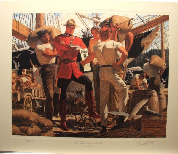 Arnold FRIBERG Trail Ends At The Sea RCMP Ltd art print Northwest Mounted Police