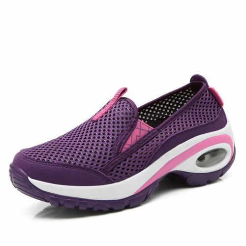 Women's Platform Athletic Sport Shoes Casual Sneakers Running Breathable Mesh