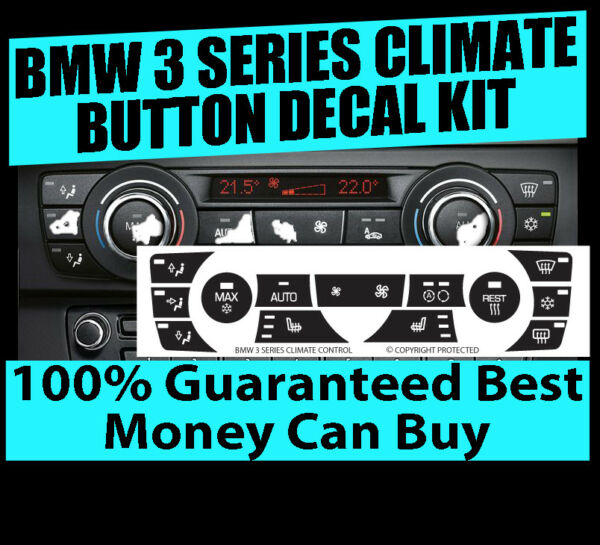 2011-2013 BMW 328i 335i Climate AC Button Repair Decals Sticker Kit