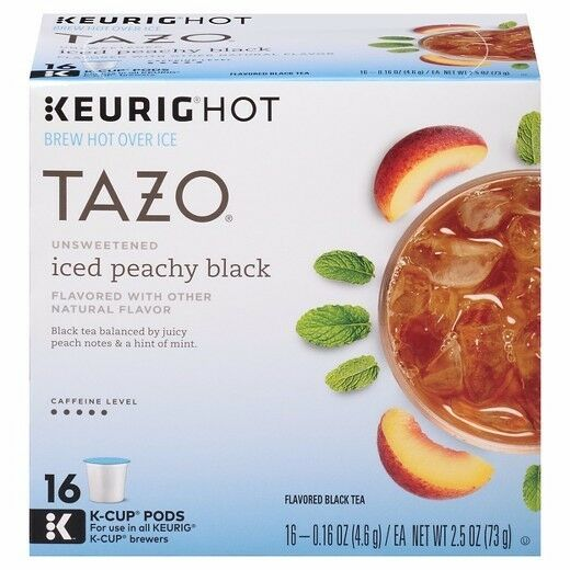 Keurig Starbucks Tazo - Iced Peach Peachy Black Tea - Case 160 ct K-Cup K-cups