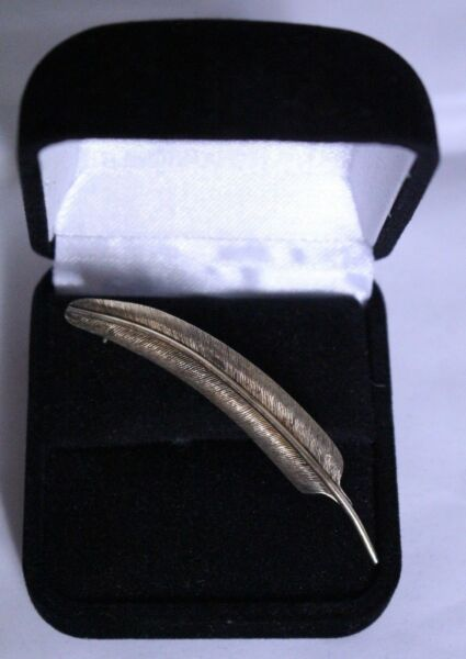 Vintage HSB Harry S Bick 120 12kt gold Leaf brooch pin