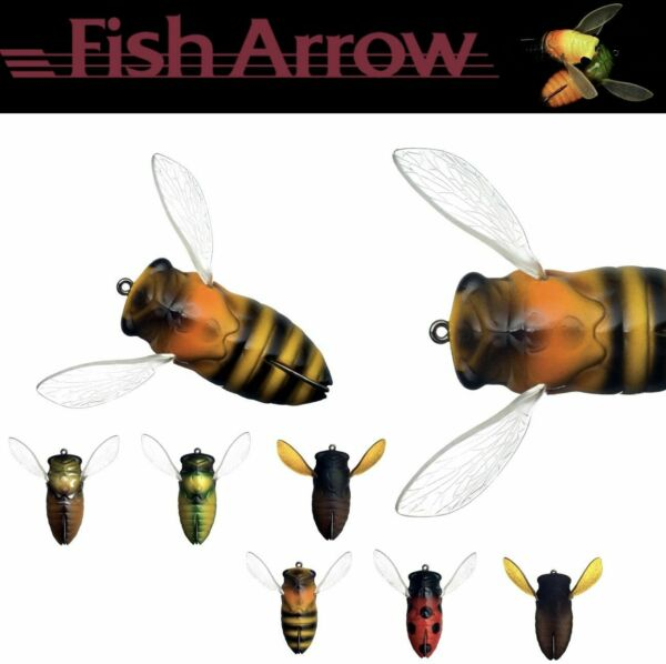 Fish Arrow Topwater Weedles Bass Lure Cover Cicada 4.5Cm 7G $11.99