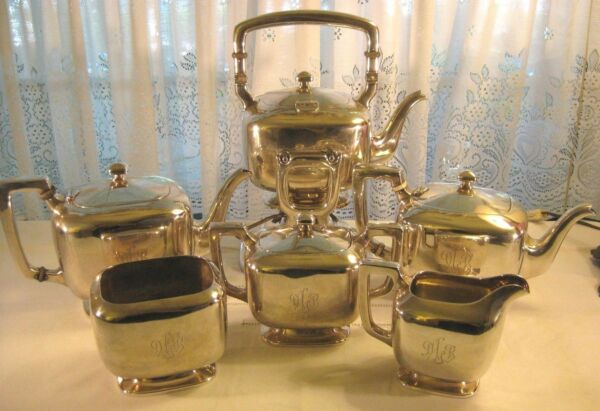 Frank Smith Sterling ~ TEA COFFEE POT & KETTLE SET ~ 6 Pc Silver Set 3592 grams