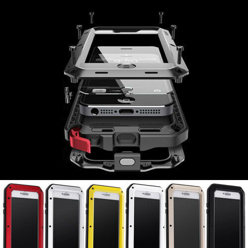 Aluminum Shockproof Waterproof Gorilla Metal Cover Case For iPhone XS Max XR 7 8