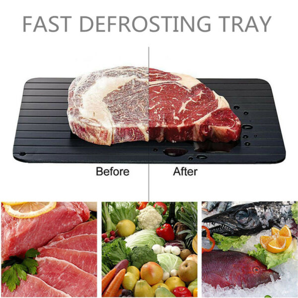 Fast Rapid Thawing Defrosting Tray Kitchen Safe Defrost Meat Or Thaw Frozen Food