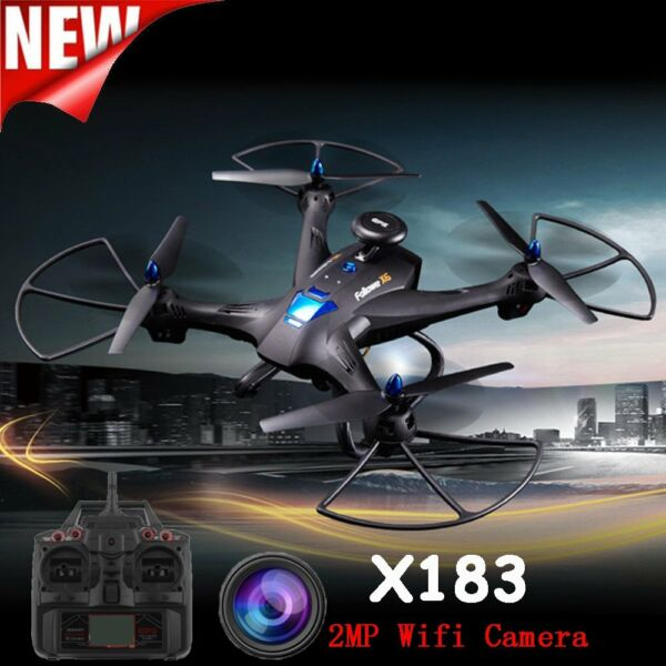 Global Drone X183 WiFi FPV 1080P Camera GPS Brushless Quadcopter Helicopter FH