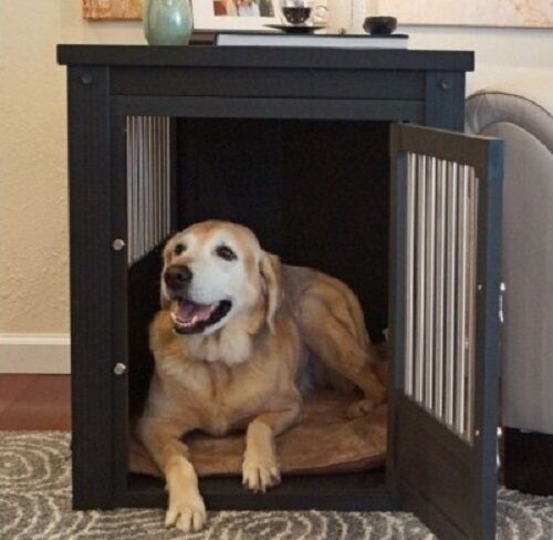 Dog Kennel End Table Crate For Extra Large Dogs Indoor Wood Cage With Cover XL